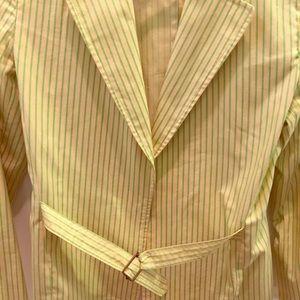 Belted Gap stripe blazer